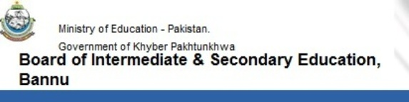 BISE Bannu Board 9th and 10th Class Date Sheet 2016