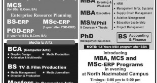 PAF KIET Spring Admission 2015 Karachi Institute Of Economics & Technology