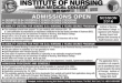 Wah Medical College Bsc Nursing Admission 2017 Application Form, Last Date