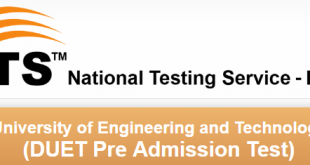 Dawood University DUET NTS Test Result 2018 Answer Keys