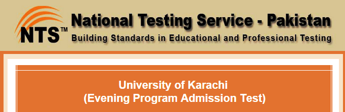 NTS Test Result Karachi University UOK Evening Admission 2016 Answer Keys