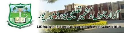 AJK Mirpur Board Intermediate Date Sheet 2016 FA, FSc Part 1, 2