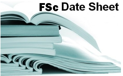FSc Part 1, 2 Date Sheet 2017 For 1st Year And 2nd Year