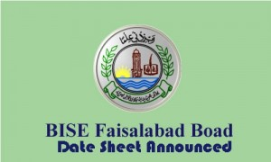 Faisalabad Board 9th Class Date Sheet 2016 Download Science, Arts Group