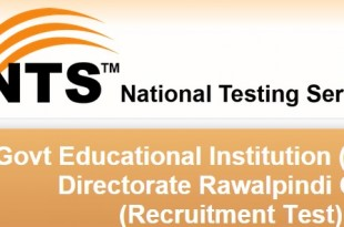 Federal Government Institute Rawalpindi NTS Test Sample Papers Download