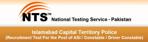Islamabad Police ASI, Constable, Driver NTS written test date 2015