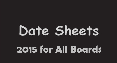 Matric 10th Class Date Sheets 2016 For All Boards
