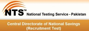 NTS Sample Papers For Central Directorate Of National Savings Islamabad