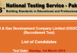 NTS Test Result 2015 OGDCL 1st March Answer keys