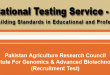 NTS Test Result NIGAB Pakistan Agriculture Research Council 2015 Answer Keys