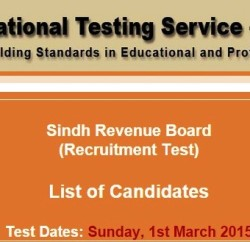 Sindh Revenue Board NTS Test Result 2015 Answers Key 1st March