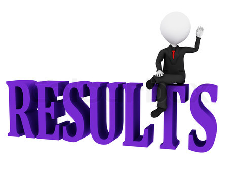 Results Concept. Results word on white background