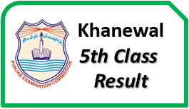 Khanewal Board 5th Class Result 2017 Download PEC Gazette Check Online