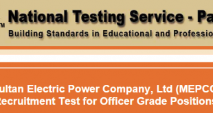 MEPCO Jobs NTS Test Result 2015 29th March Answers Key Officer Grade
