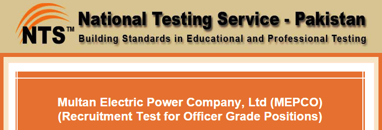 MEPCO Jobs NTS Test Result 2016 10th April Answers Key Officer Grade