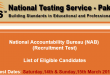 NAB Islamabad NTS Test Result 2015 Answer Keys 14th, 15th March