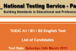 NTS TOEIC A1, B1, B2 Test Result 2015 Check Online