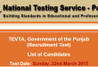 TEVTA Punjab NTS Test Result 2015 Instructors 22nd March Answers Key