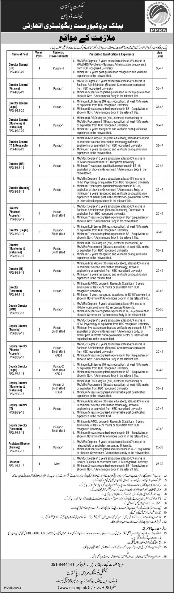 punjab jobs nts application form test date eligibility ppra punjab jobs 2017 nts application form test date eligibility