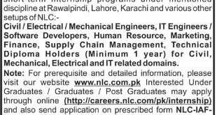 National Logistic Cell NLC Internship 2016 Application Form Online Download