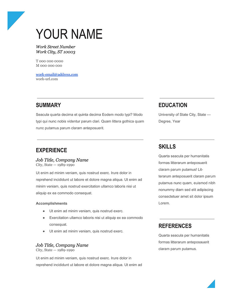 best cv samples template 2019 download in ms word pdf