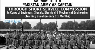Join Pakistan Army As Captain Through Short Service Commission 2016 Registration
