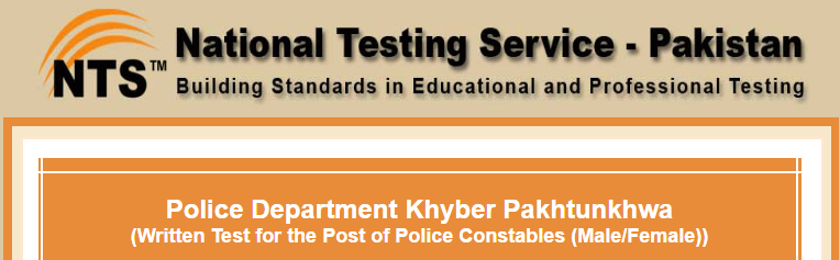 KPK Police Constable NTS Test Result 2018 Male, Female