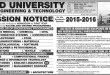 NED University Karachi Undergraduate Admission 2016 Apply Online Form