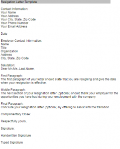 resignation letter sample in pakistan doc, pdf format download 1