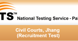 Civil Court Jhang NTS Test Result 2015 Process Server 5th July