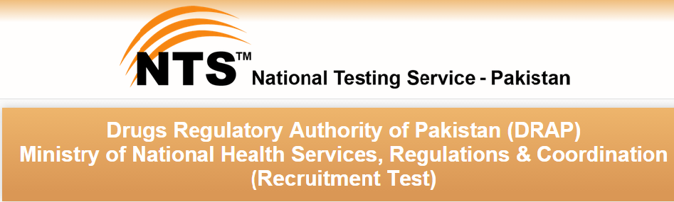 Drugs Regulatory Authority Of Pakistan DRAP NTS Test Result 2015 12th July Online