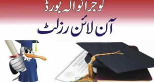 Gujranwala Board Matric Result 2018 Online Check bisegrw.com 10th Class