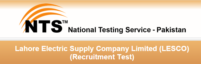 LESCO Lahore NTS Test Result 2015 28th, 29th, 30th August Lahore Electric Supply Company Limited