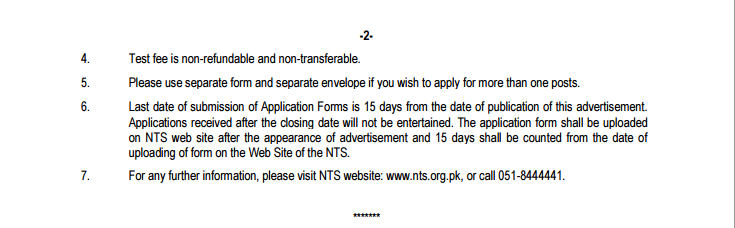 Ministry Of National Health Services Islamabad Jobs 2015 NTS Form Assistant, Stenotypist 1