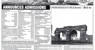 BZU Multan Admission 2015 Undergraduate Download Admission Form Last Date