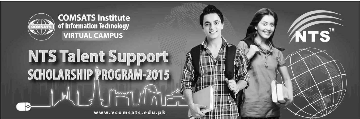 COMSATS Islamabad NTS Talent Support Scholarship 2017 Apply Online, Last Date - Copy