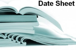 Lahore Board Matric 10th Class Supplementary Date Sheet 2018