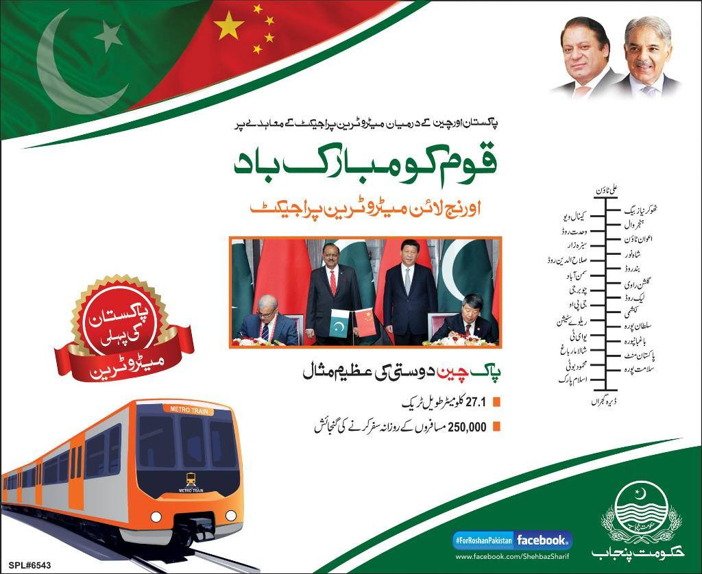 Lahore Orange Line Metro Train Jobs 2015