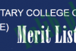 Military College Of Engineering Risalpur Merit List 2015