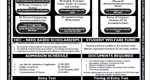 University Of Poonch Rawalakot UPR Admissions 2018 Fall Undergraduate Form