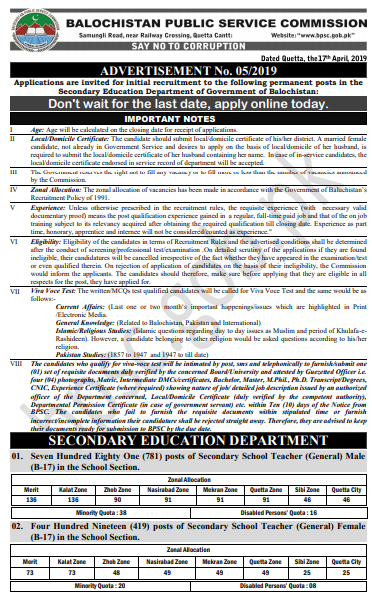BPSC Police Jobs 2019 ASI Application Form Online Last Date