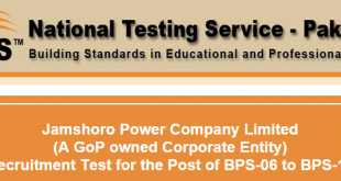 Jamshoro Power Company NTS Test Result 2015 Answer Keys 19th, 20th September