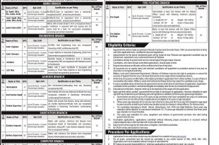 Military Lands And Cantonments Department MOD Jobs 2017 NTS Form, Last Date