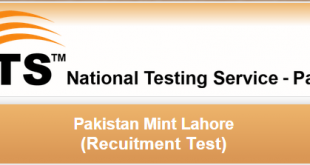 Pakistan Mint Lahore Jobs 2015 NTS Application Form Download Advertisement