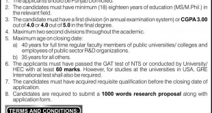 UET Lahore Scholarships For PhD Abroad 2016 Form Apply Online Last Date