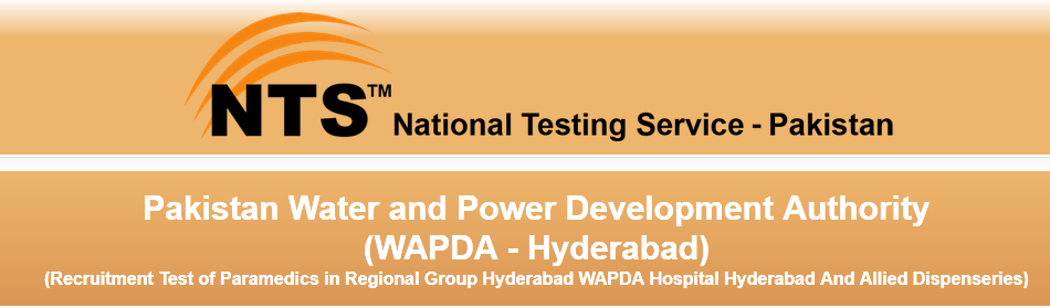 WAPDA NTS Test result 2015 Hyderabad Sunday 6th September Answer Keys