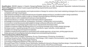 NADRA Islamabad Jobs 2015 Graphics Designer Form Date Advertisement