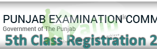 PEC 5th Class Registration Form 2018 Schedule Download Admission Form