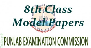 PEC 8th Class Model Papers 2016 Download English, Math, Science, Urdu Subjects