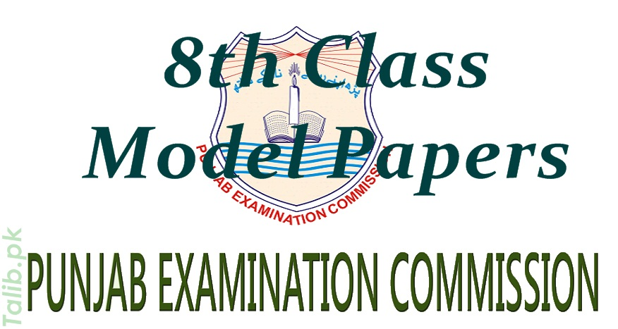 PEC 8th Class Model Papers 2018 Download English, Math, Science, Urdu Subjects
